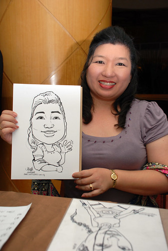 Caricature live sketching Misumi SouthEast Asia D&D 4