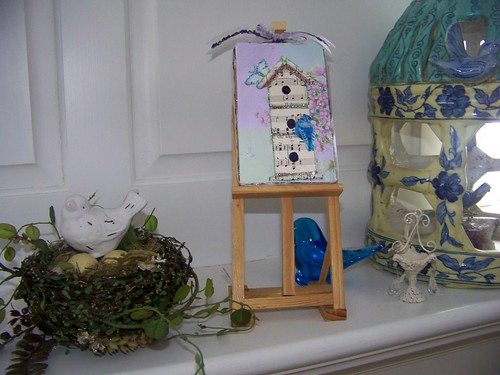 Bluebirds and Birdhouses Minis