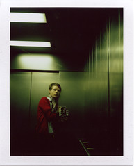 mirror (historicist) Tags: selfportrait london film polaroid mirror fuji lift 180 pack fujifilm february 2008 fp100c campola180 bartett