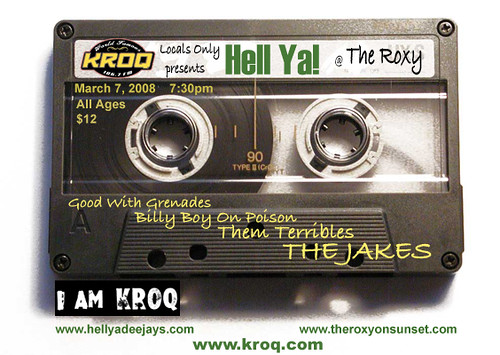 KROQ Locals Only and Hell Ya! Present: Billy Boy on Poison/The Jakes 3/7