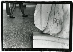 Grecian feet (they'll be spittin' in your eye) Tags: bw fashion outside shoe ancient europe legs statues ground athens greece spying agora 2007 stoa photofaceoffwinner cmwdblackandwhite pfogold pfosilver athenianagora