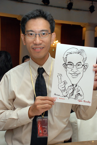 caricature live sketching Singtel Radiance Communications Avaya 2