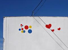 (michale) Tags: sanfrancisco california shadow white wall circle logo hearts wonder closed heart circles gone lookingup wires bakery mission hostess soma demolished osfios wonderbread flickrsrainbowpics kcshow