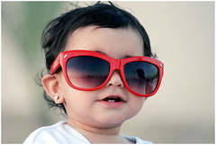 The Cutest Girl! (Nazza3a ( NAzNaZ..... )) Tags: red baby cute love girl sunglasses cutest hind hawaalrayyanfav