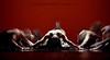 Brethren (skinr) Tags: longexposure red men contrast back intense dancers ceremony cult ritual shoulders brotherhood kneeling trance intensity supernatural initiation brethren etherreal wwwjskinnerphotocom jasonjamesskinner lasvegascontemporarydancetheater