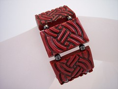 Faux Cinnabar Bracelet (clayangel_sc) Tags: art beauty fashion one necklace beads artist handmade originalart ooak polymerclay fimo clay gift bracelet faux sculpey handcrafted wearableart accessories bracelets earrings etsy acessories brooches necklaces polymer millefiori transfers antiquing artjewelry hypoallergenic adornments artisanjewelry canework handmadebeads artbeads handcraftedbeads pcagoe notpainted polymerclayjewelry oneofakindjewelry fauxjewelry southcarolinaartist jewelryartisan boldjewelry clayangel oneofakindpiece clayangelsc nopaintisinvolved finising