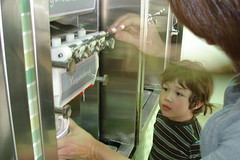 Lukas and mom at Yogurtland