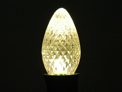 C7 Warm White (LED Holiday Lighting) Tags: christmas 3 replacement christmaslights led faceted bulbs c7 gogreen ledchristmaslights ledreplacementbulbs