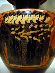 terracotta hydria depicting nine muses accompanied by Dionysos and Hermes (ggnyc) Tags: nyc newyorkcity museum greek women manhattan terracotta group muses greece jar attic vase pottery met hermes metropolitanmuseumofart ancientgreece nymphs waterjar diadem dionysos blackfigure hydria hesiod boeotia mountnysa mounthelicon