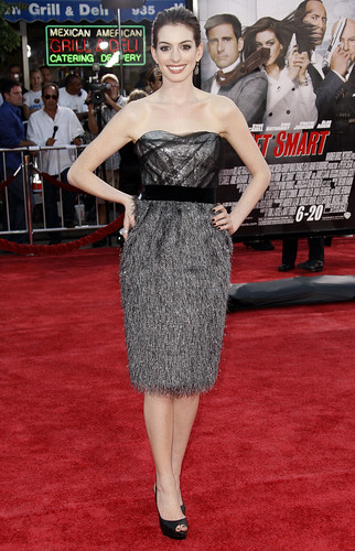 "Anne Hathaway at the L.A. premiere of ""Get Smart."" (AP Photo/Matt Sayles)"