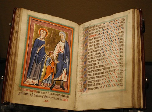 """Christ Led to Jerusalem by Mary and Joseph,"" 12th Century"