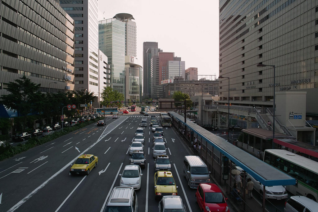 The road in front of Osaka Station