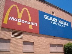 Vinita Glass House (citizenkerr) Tags: house oklahoma glass station mcdonalds gas interstate ok 44 phillips66 vinita conoco ezgo