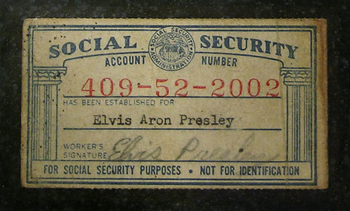 elvis presley s social security card a photo on flickriver