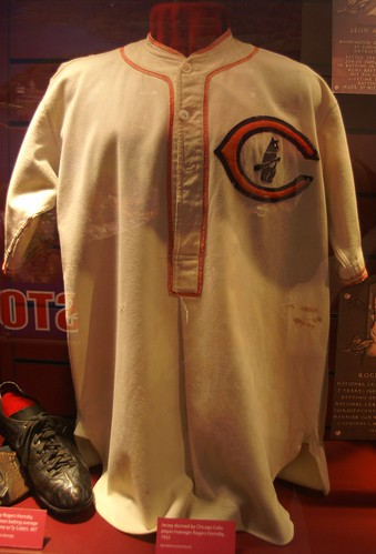 Jersey worn by Cubs player/manager Rogers Hornsby in 1932