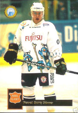 Pavel Bure, Landshut Cannibals, DEL, hockey card, ugly jersey