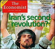 Ahmad Batebi en la portada de The Economist