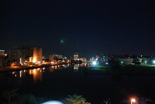 飯店外夜景