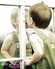 Kiss Mirror (Krista Gabbard) Tags: old boy portrait baby reflection loving outside outdoors mirror kid toddler kiss child affection sweet adorable son