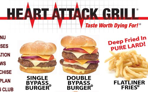 heart attack cafe menu. The Heart Attack Grill in