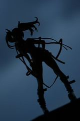 Who's silhouette is this? (katsuboy) Tags: shadow anime silhouette japan toys japanese dusk manga rollerskates yamato figures kage rollerblades pvc airgear bfigure ringonoyamano hentaikamenversion maskedhentaiversion