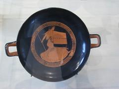 Kylix (drinking cup) Thracian woman) (peterjr1961) Tags: nyc newyorkcity newyork art museum greek met themet metropolitanmuseumofart