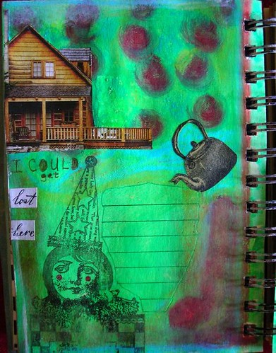 Art Journal Page by peregrine blue