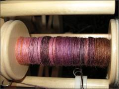 Plumcopper Merino-silk, bobbin 1