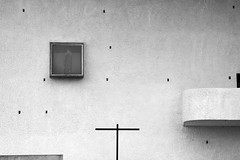 (arndalarm) Tags: bw france church frankreich kirche chapel sw lecorbusier ronchamp kapelle notredameduhaut arndalarm charlesedouardjeanneretgris francefastforward img0823e05c50s100aklein