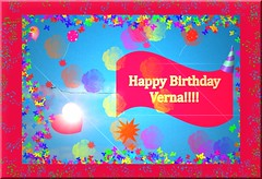 HAPPY BIRTHDAY VERNA!! (fantartsy JJ *2013 year of LOVE!*) Tags: birthday friends blessings happybirthday hugs greetingcard lovecelebrations
