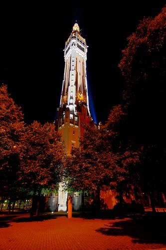 Beffroi de Lille, la nuit...