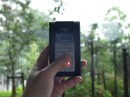 雨音を録音