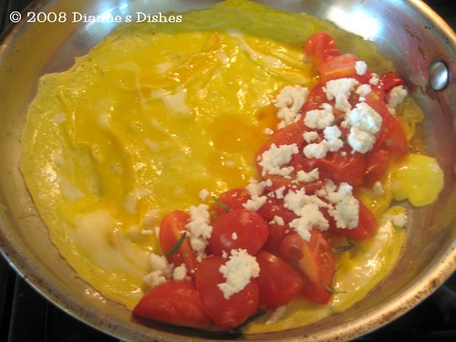Tomato Goat Cheese Omelet: Tomatoes and Goat Cheese