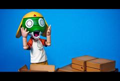 Ugly Face Henshin... (fendyzaidan) Tags: kids toys beck clover fendy keroro yotsuba bluebackground 18135mm revoltech zaidan nikond80 danboard figurinesmacro