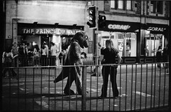 Saturday night fever #10 (giuli@) Tags: uk blackandwhite bw film topf25 wales analog geotagged 50mm lenstagged dinosaur cardiff 100v10f saturdaynight neopan nightlife neopan1600 fancydress zuiko iso1600 olympusom10 galles fujineopan1600 blackandwhitefilm dinosauro stmarystreet fujineopan travestimento monoc sabatosera zuiko50mmf18 giuliarossaphoto cardiffcitycentre quickcollection noawardsplease geo:lat=51478239 group:smellsfunny=no nolargebannersplease geo:lon=3178009