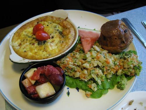 O'Rourke's fritata/veggie hash special