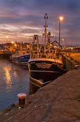 Evening Endeavour (w11buc) Tags: sky boats evening scotland fishing aberdeenshire harbour postcard olympus e3 fraserburgh trawlers 5photosaday greatscot zd1260mm