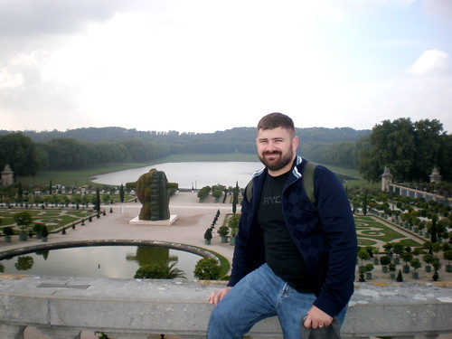 Me in a side garden of Versailles