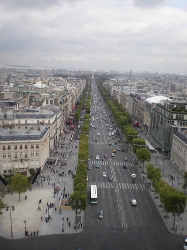 The Champs-Elysées from atop The Arc de Triomphe