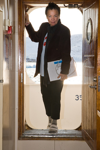 Laurie Anderson onboard an expedition studying the effects of global warming