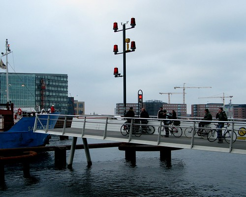 Cycle Bridge with Ship