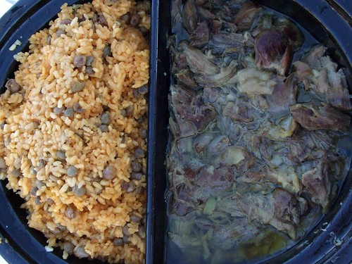 Roast Pork (Pernil) and Arroz con Gandules