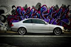 2004 BMW 330ci (Zlatko Unger) Tags: atlanta fall 2004 car set skyline ga silver georgia graffiti grafitti 04 atl 330 bmw westside ci 330ci hense atlantagra