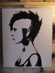 ***PUNK GIRL*** (T  3) Tags: street new urban test art girl studio graffiti stencil punk artist contemporary banksy spray canvas walker rocker mohawk layer t3 edition multi tester testspray t3art