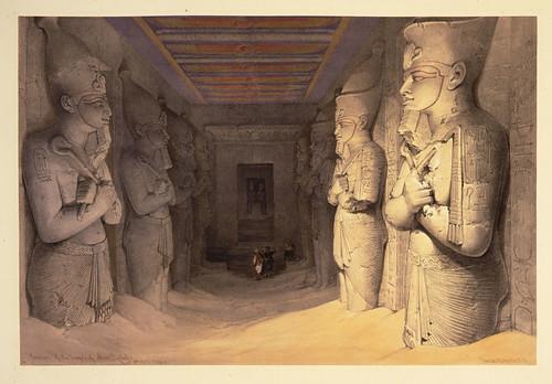 016- Interior del templo de Aboo-Simble - David Roberts- 1838