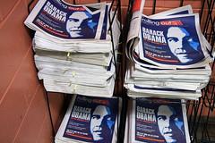 The Obama Four (damonabnormal) Tags: street city urban philadelphia canon wednesday october barak philly 2008 phl obama 08 40d obamania