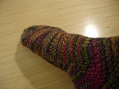 Koigu sock made to fit