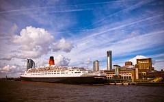 Bon Voyage, QE2 (Fanatical Apathist) Tags: cruise liverpool waterfront queenelizabeth2 cunard mersey qe2 rivermersey nikond90 cruiseshipcruiseliner