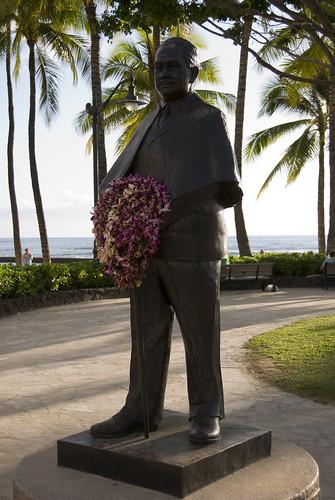 Prince Kuhio Statue at Waikiki Beach