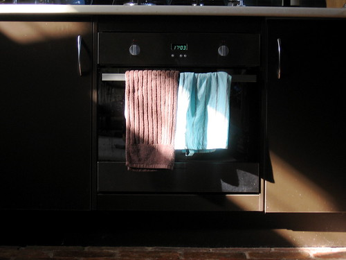 sunlight on the oven